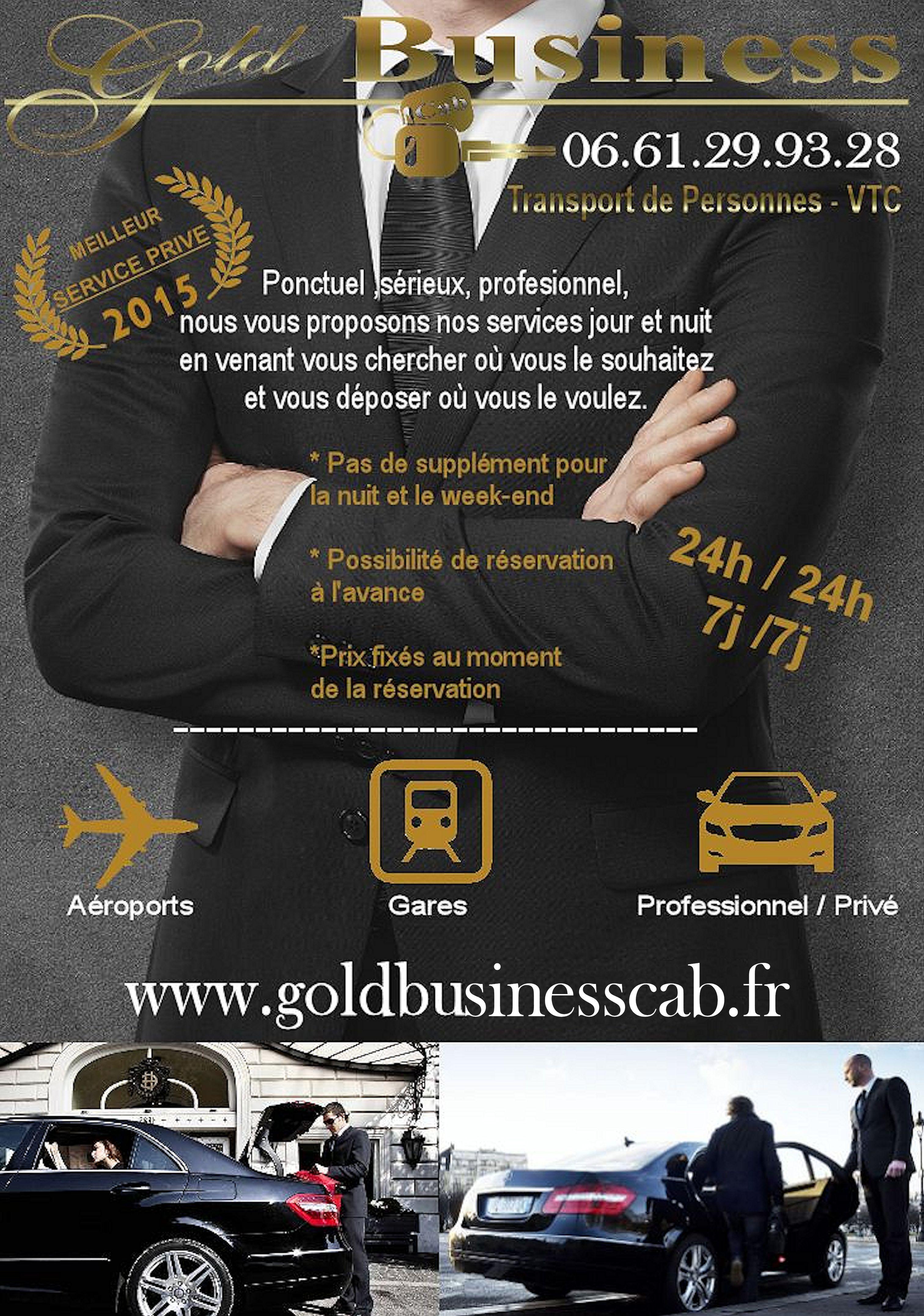 gold business cab taxi vtc ach res. Black Bedroom Furniture Sets. Home Design Ideas
